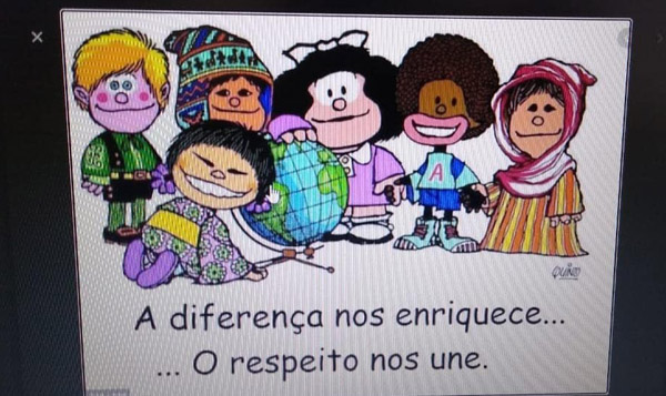 Mural virtual tema: Respeito as Diferenças