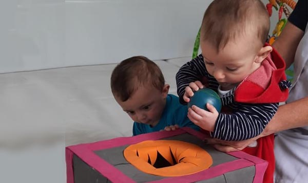 Atividade trabalhada com a caixa sensorial